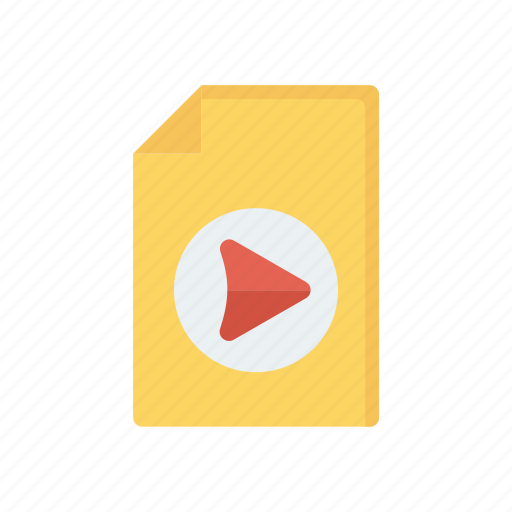 document, file, record, video icon