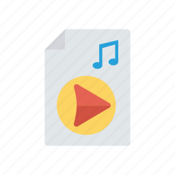file, music, song, video icon