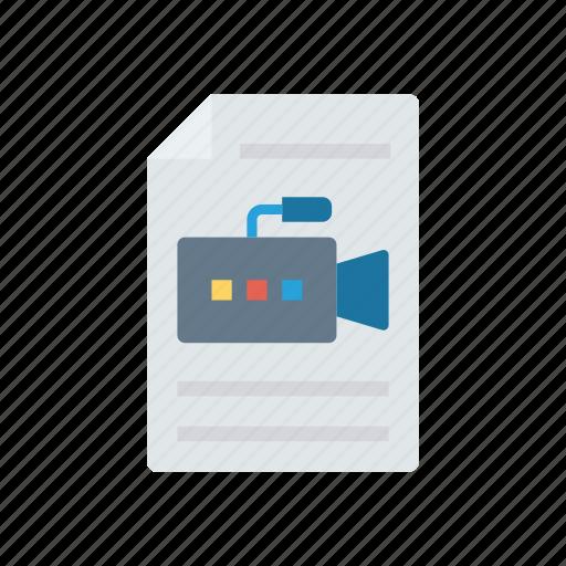 document, file, recording, video icon
