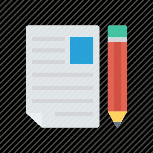 create, document, edit, write icon