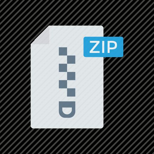document, file, record, zip icon