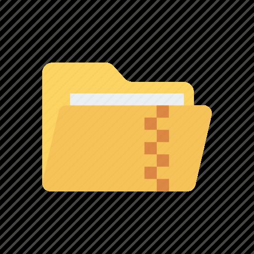 archive, folder, record, zip icon