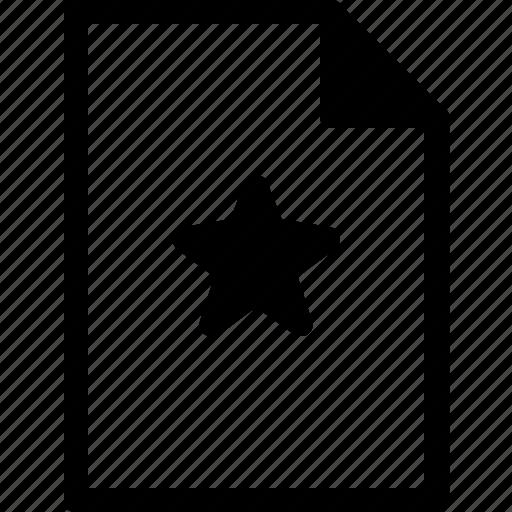document, favorite, file, files, stars icon
