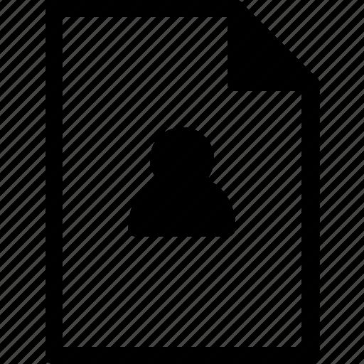 account, document, file, files, user icon