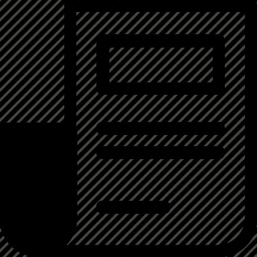 document, file, files, newspaper icon