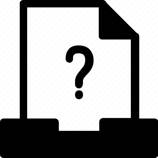 document, drawer, file, files, question mark icon