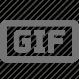 extension, gif, image icon