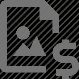 document, dollar, file, format, image, money, paper, sheet icon