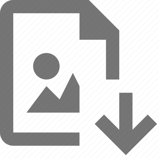 arrow, down, download, file, image icon