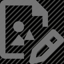 edit, file, image, pencil icon