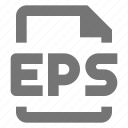 eps, extension, file, image icon