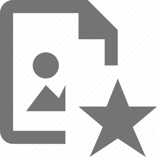 document, favorite, file, format, image, paper, sheet, star icon