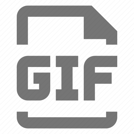 extension, file, gif, image icon