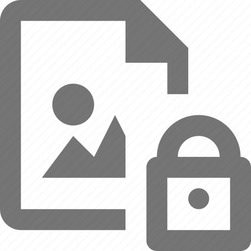 document, file, format, image, lock, paper, security, sheet icon