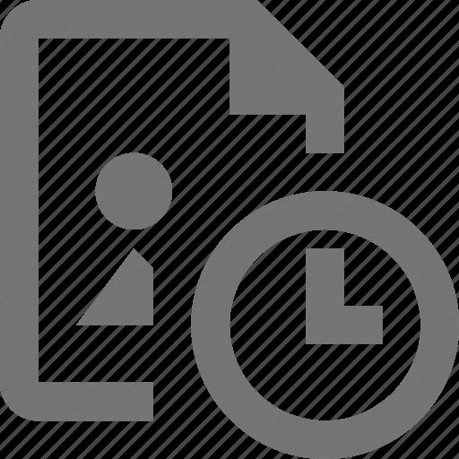 clock, file, image, time icon