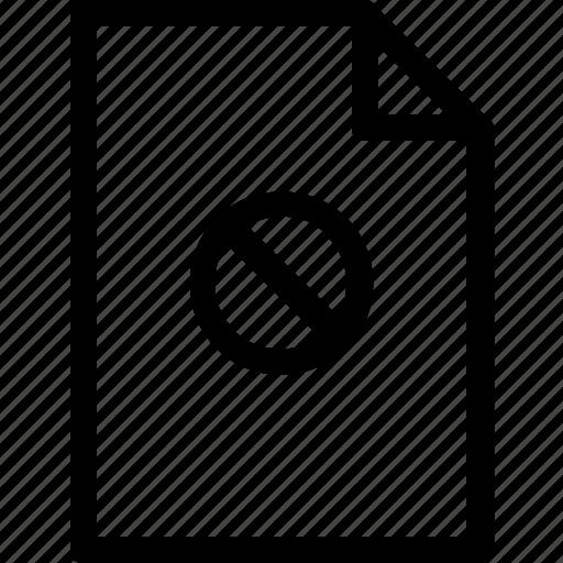 document, file, files, prohibited, secret icon