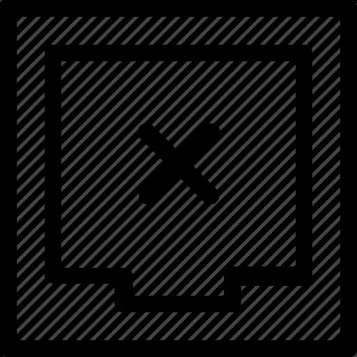 delete, document, drawer, file, files, x mark icon