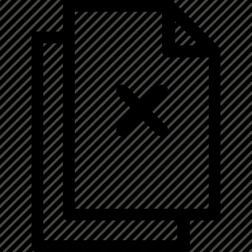 delete, document, file, files, x mark icon