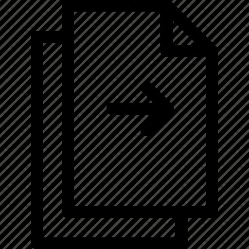 continue, document, file, files, next, right icon