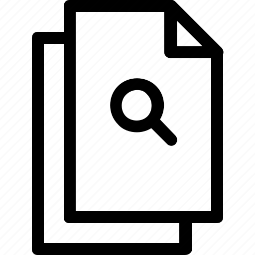 document, file, files, find, search icon