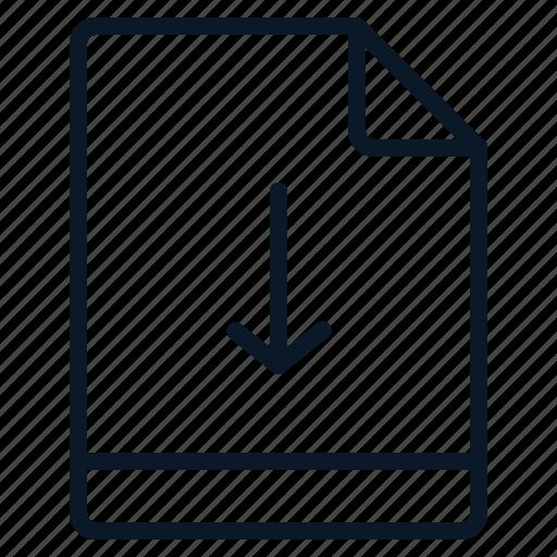 arrow, down, file, move icon