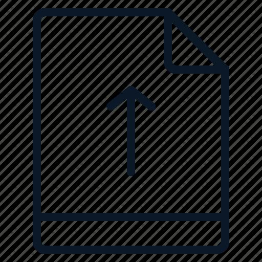 arrow, file, move, up icon