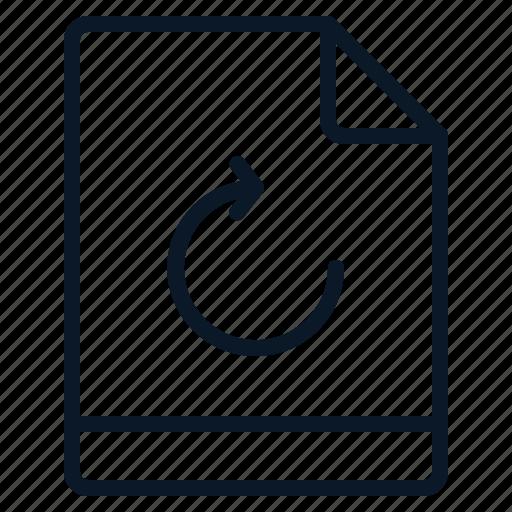 file, refresh, reload, restore icon