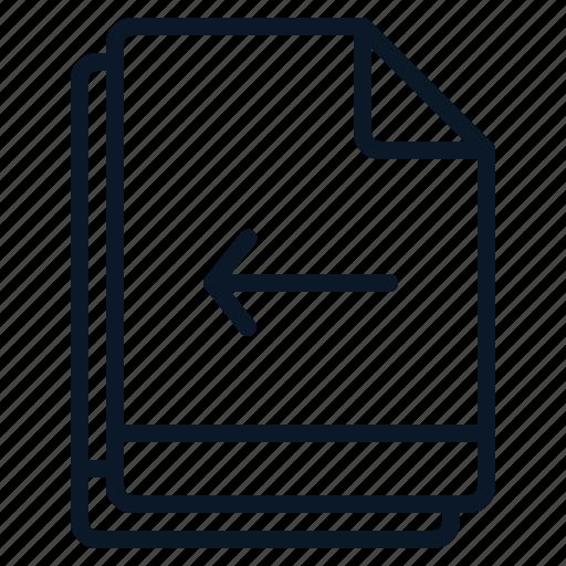 arrow, file, left, move, multiple icon