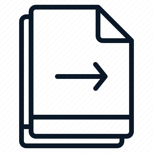 arrow, file, move, multiple, right icon