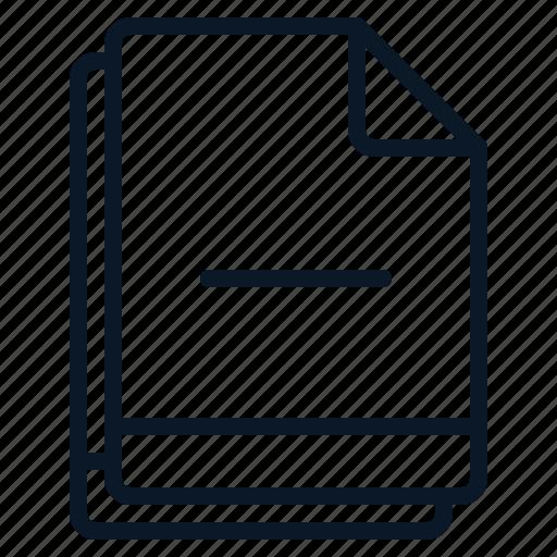 file, minus, multiple, reduce, remove icon