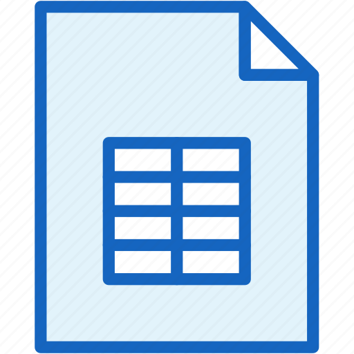 editor, files, sheet, table icon