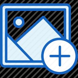 add, files, image, picture icon