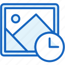 clock, files, image, pictire icon