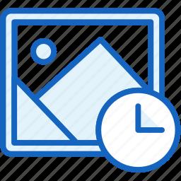 clock, files, image, pictire icon