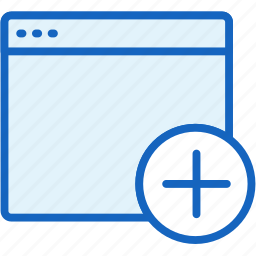 add, browser, files icon