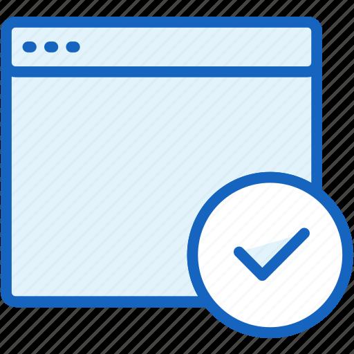 browser, check, files icon