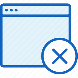 browser, close, files icon