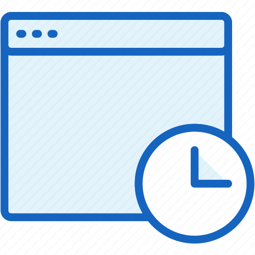 browser, clock, files, timing icon
