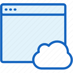 browser, cloud, files icon