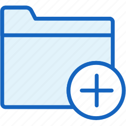 add, files, folder icon