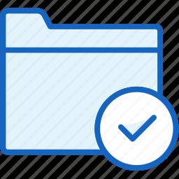 check, files, folder icon