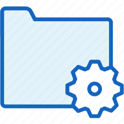 files, folder, settings icon