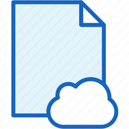 cloud, files icon