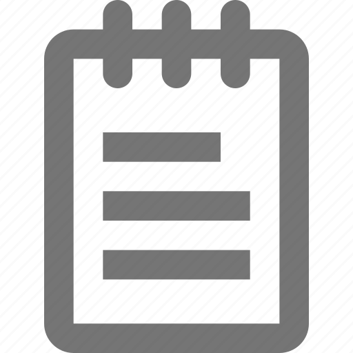note, notepad, text icon