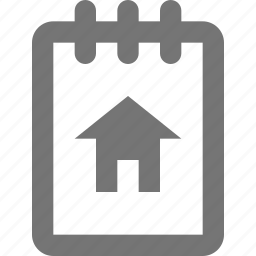 home, house, note, notepad icon