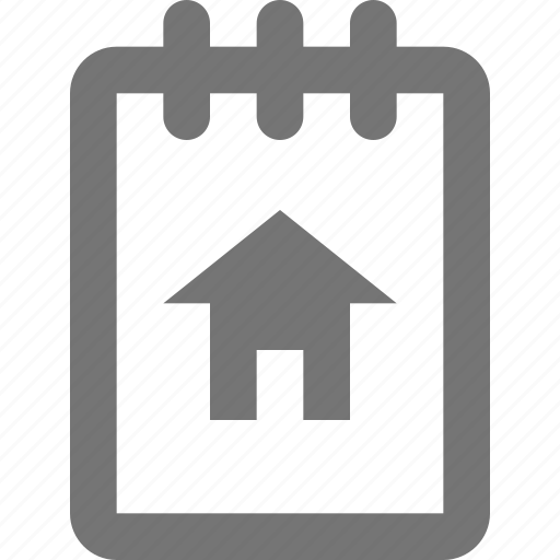 file, home, house, note, notepad, reminder, save, write icon