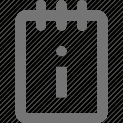 data, information, note, notepad, reminder, save, write icon