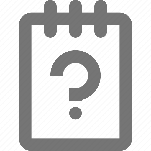 file, help, note, notepad, question, reminder, save, write icon