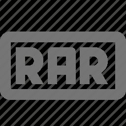 extension, format, rar icon