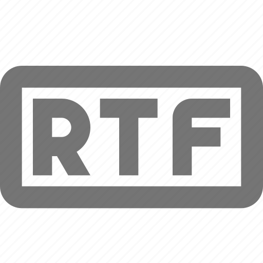 document, extension, format, rtf icon